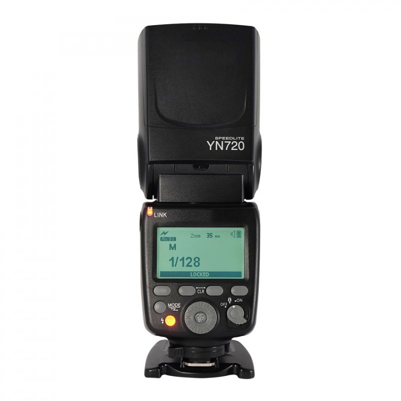 YONGNUO YN720 Flash Speedlite Wireless Flash Master Slave Speedlite GN60 LCD Display Battery for Canon Nikon Sony DSLR Camera black