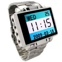 MP4 Watch With 1.8 Inch LCD - 8GB Excalibur Steel Edition