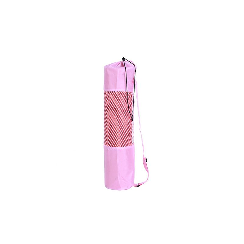 Yoga Mat Bag Mesh Center Adjustable Strap Pilates Carrier Fitness Body Building Sports Equipment Pink