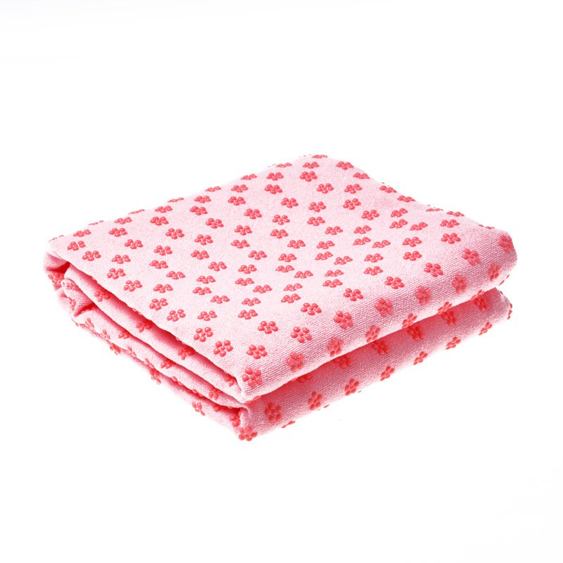 Yoga Mat Towel Non Slip Yoga Mat Cover Towel Blanket Sport Fitness Exercise Pilates Workout Pink