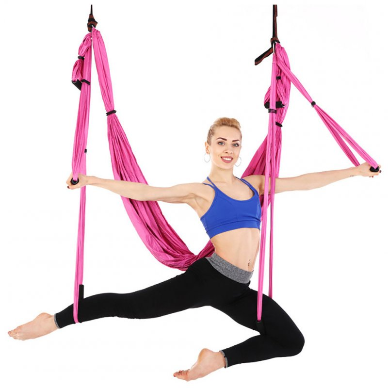 Yoga Swing Set Yoga Sling Inversion Tool for Professional Beginners Black (standard with single hammock)