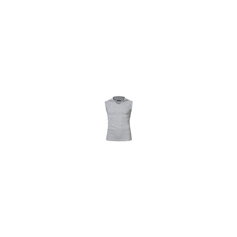 Yong Horse Men Casual Cotton Solid Sleeveless