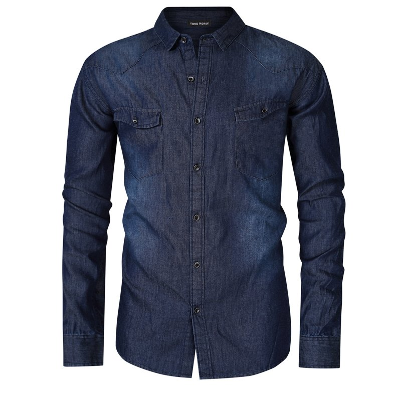 Yong Horse Western Work Denim Shirt