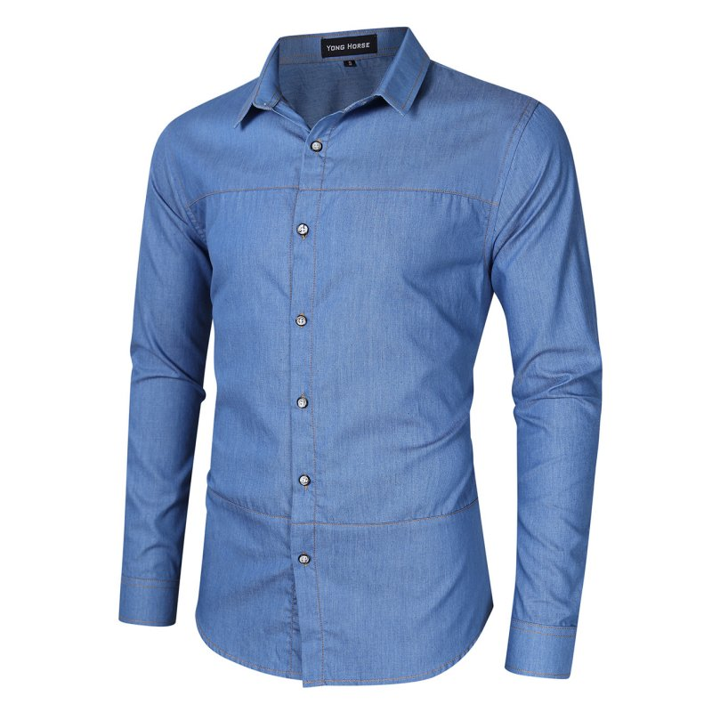 Yong Horse Long Sleeve Denim Shirt