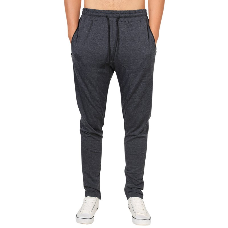 Yong Horse Men's Casual Jogger Pants Fitness Workout Gym Running Sweatpants Dark Grey_S