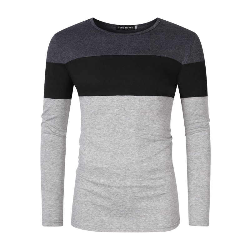 Yong Horse Men's 3 Color Block T-Shirt M