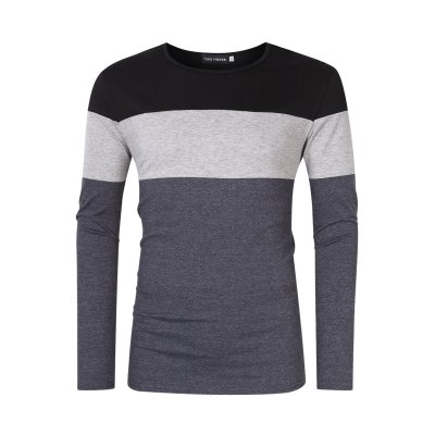 Men's Color Block Slim Fit Cotton T-Shirt