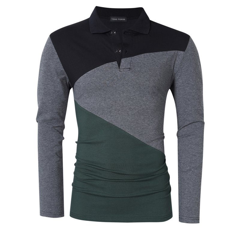 Yong Horse Modern Fit Long Sleeve Polo Shirt