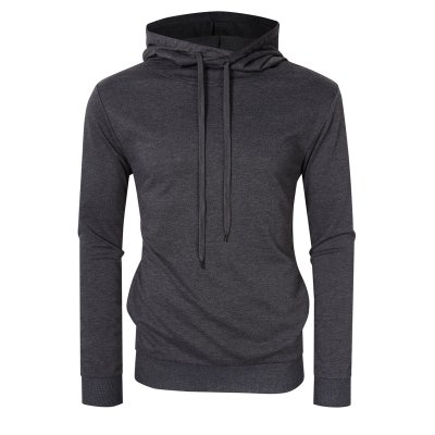 Yong Horse Men's Long Sleeve Hoodie -Gray XL
