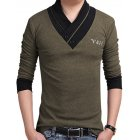 Men's Slim Fit Button V-Neck Casual T Shirts