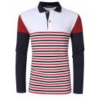 Yong Horse Men's Striped Color Block Shirt