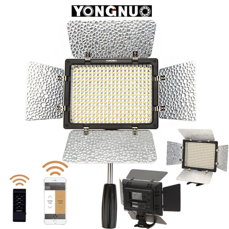 Yongnuo YN300 III 3200k-5500K CRI95 Photography Light Camera Photo LED Video Light with IR Remote for Canon Nikon UK plug