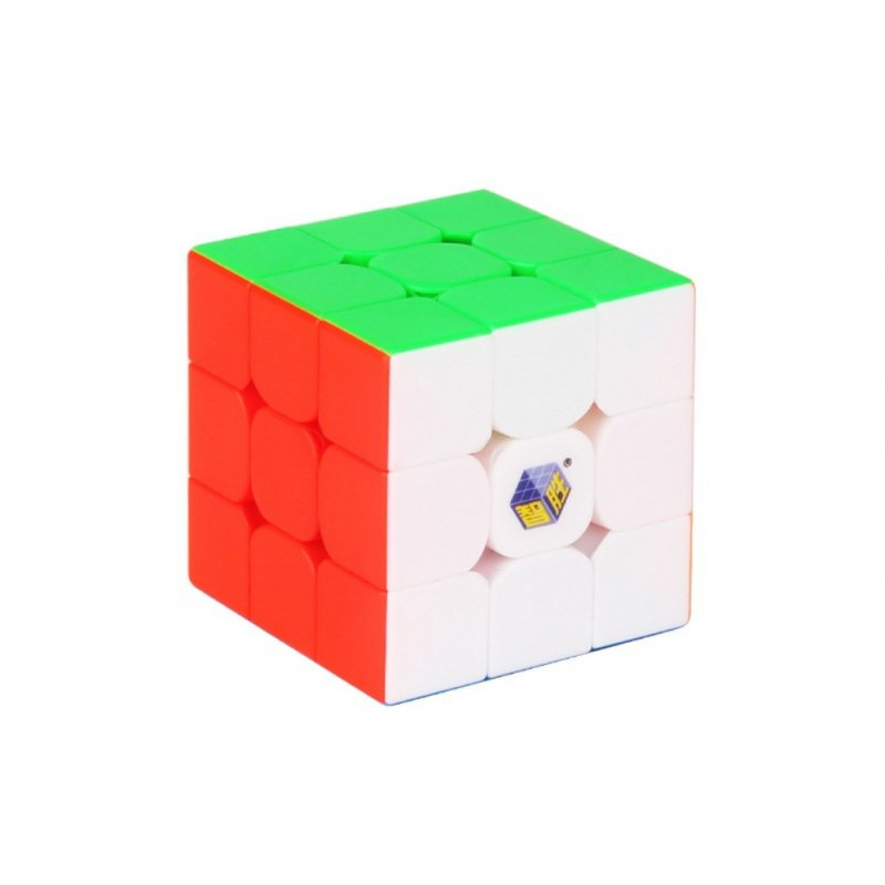 Yuxinzhisheng 3x3 Magic Cube Speed Pocket Stickerless Puzzle Cube Professional Educational Toys For Children Fluorescent six colors