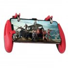 Z8 Mobile Gamepad Controller Stretchable Game Pad Joystick PUBG Game Fire Button Aim Key L1R1 Shooter Trigger with Phone Holder red