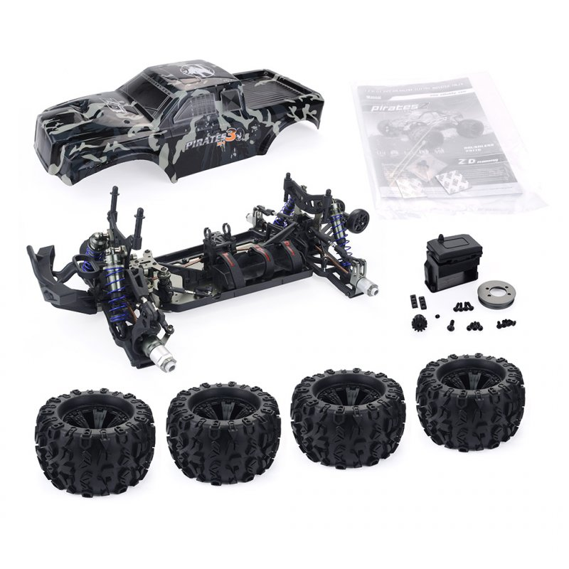 ZD Racing MT8 Pirates3 1/8 2.4G 4WD 90km/h Electric Brushless RC Car Metal Chassis RTR  camouflage_Frame (without electronic accessories)