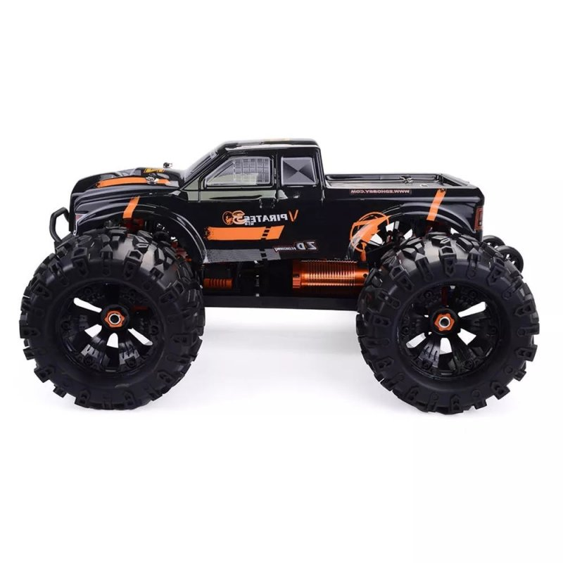 ZD Racing MT8 Pirates3 1/8 2.4G 4WD 90km/h Electric Brushless RC Car Metal Chassis RTR  Black orange_Frame (without electronic accessories)
