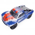 ZD Racing Thunder SC-10 1/10 2.4G 4WD 55Km/h RC Car Electric Electricless Brushless Short Course Vehicle RTR Blue red