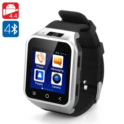 ZGPAX S8 Android 4.4 Watch Phone (Silver)