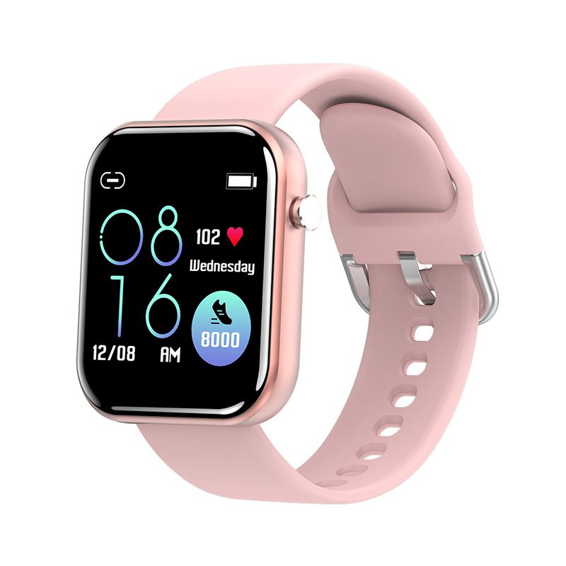 ZL11 Smart Bracelet 1.5 Inch Full Touch Screen Step Counts Heart Rate Long Standby Bluetooth Wristwatch Pink