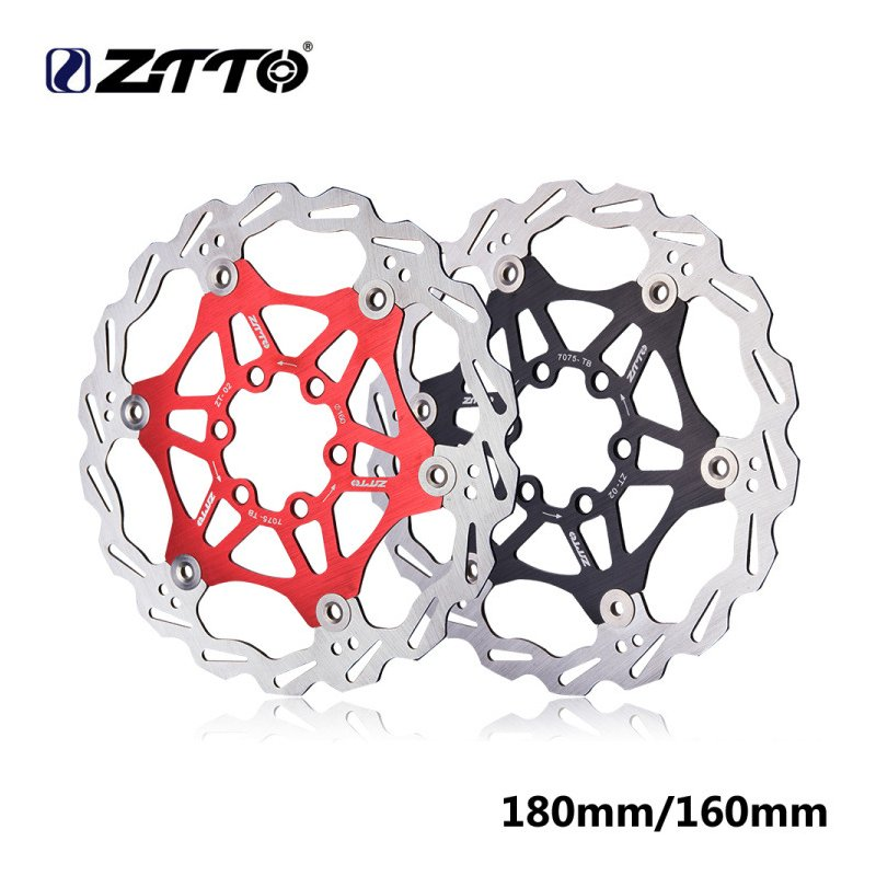 ZTTO 180mm 160mm Brake Floating Rotor Stainless Steel MTB Disc Hydraulic Brake Pads Bicycle parts 160MM black