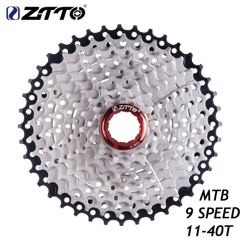 ZTTO 9s Cassette Freewheel 11-40T 9 Speed Flywheel Sprocket Cassette Flywheel Bicycle Parts 9s 11-40t