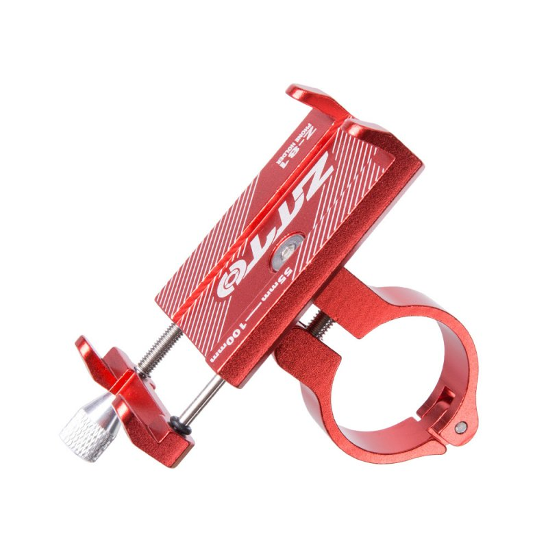 ZTTO Aluminum Alloy Bike Phone Holder Reliable Mount Universal Mobile Cell GPS Metal Motorcycle Holder red