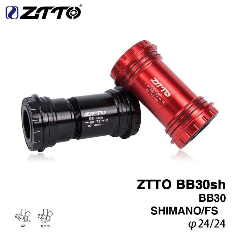 ZTTO BB30sh BB30 Mean Axle Screw - in Shaft Bicycle Fit Bottom Brackets Axle For MTB Road Bike Parts Exchange to Shimano GXP Crankset black