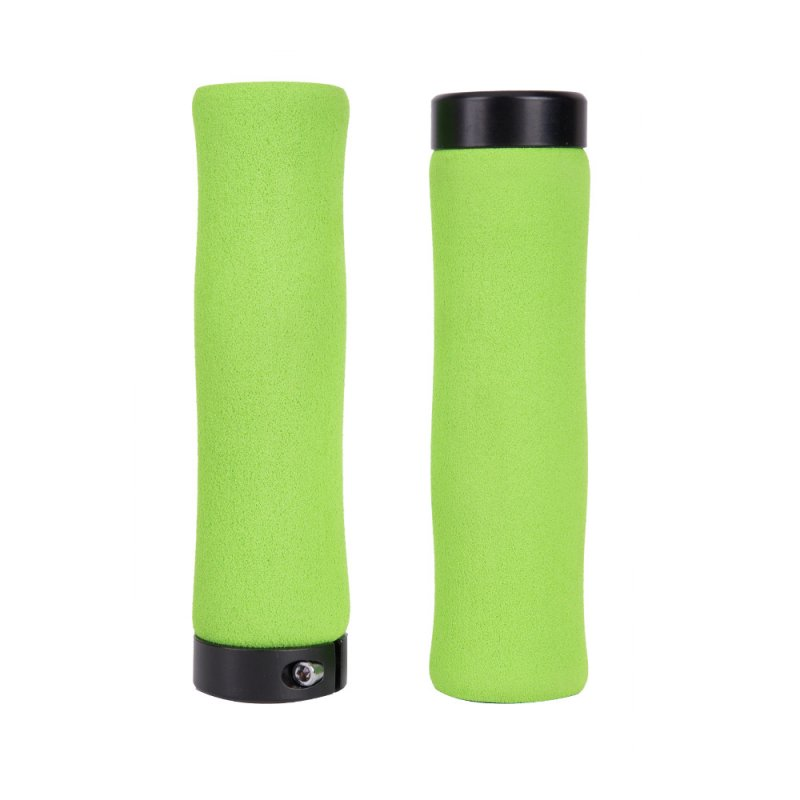 ZTTO Bicycle Handle Grip Sponge Handle Cover Soft Comfortable Bike Handle Cover Plug green
