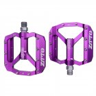 ZTTO MTB Road Bike Ultralight Bicycle Pedals Mountain CNC AL Alloy Hollow Anti-slip Bearings Bicycle Pedals Cycling Part purple