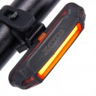 ZTTO Waterproof MTB Front Rear USB Rechargeable Safe LED Light Taillight Red light