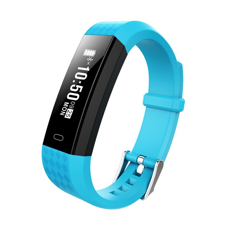 ZY68 Smart Bracelet Bluetooth IP67 Waterproof Heart Rate Sleep Monitoring Pedometer Fitness Tracker Sport Wristband blue