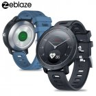 Original ZEBLAZE Hybrid Smartwatch Heart Rate Blood Pressure Monitor Smart Watch Exercise Tracking Sleep Tracking for Android iOS blue