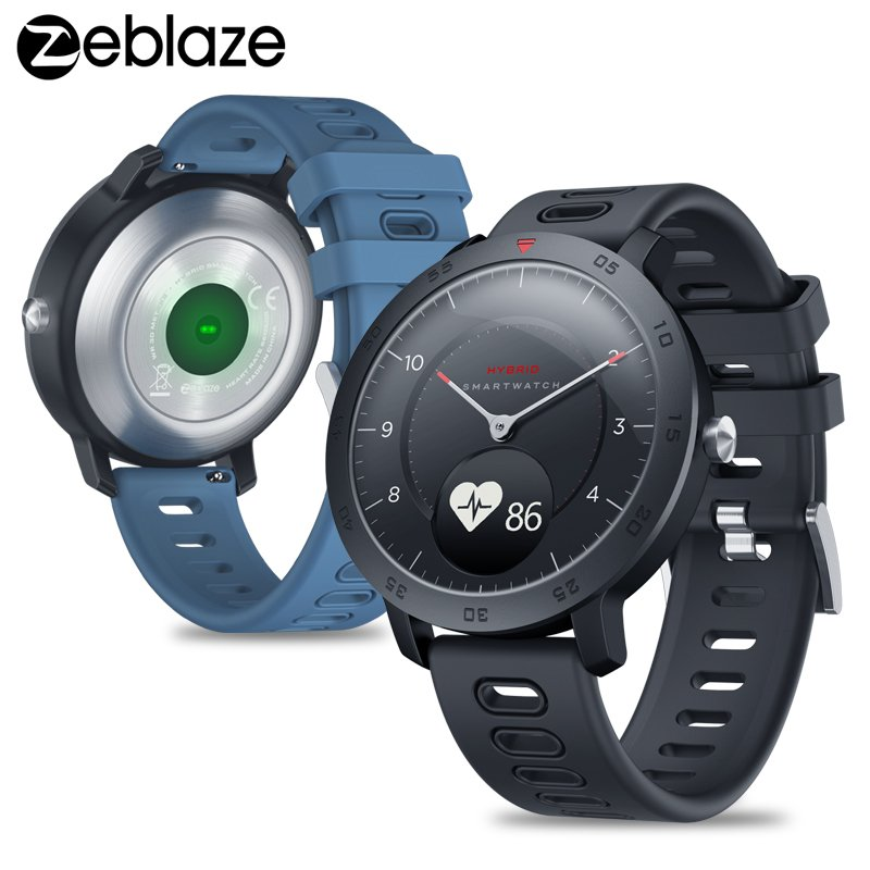 Zeblaze Hybrid Smartwatch Heart Rate Blood Pressure Monitor Smart Watch Exercise Tracking Sleep Tracking for Android iOS blue
