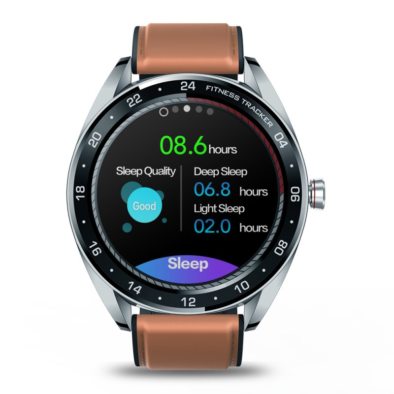 Original ZEBLAZE NEO Series Touch Display Smartwatch - Heart Rate, Blood Pressure, Health CountDown, Call Rejection, IP67 - Silver