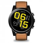 Original Zeblaze THOR 4 PRO 4G SmartWatch 1.6inch Display 16GB 600mAh Leather Straps Brown