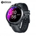 Zeblaze THOR 5 PRO Ceramic Bezel 3GB+32GB Dual Camera 800mAh Battery GPS/Face Unlock Leather Straps Smart Watch black