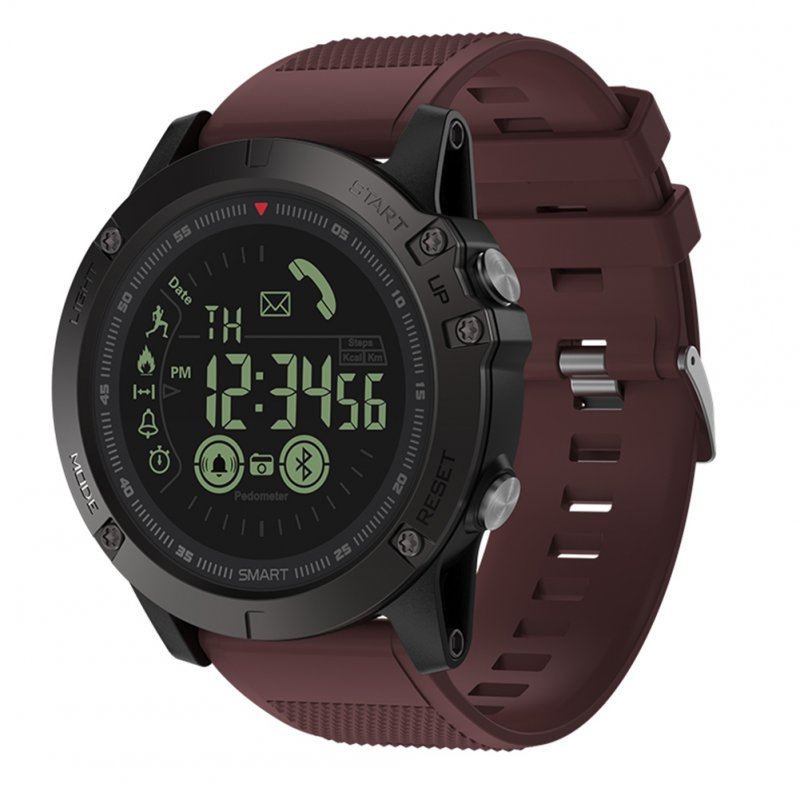 Original ZEBLAZE VIBE3 Rugged Smartwatch for IOS Android Watch - IP67, 1.24 Inch, 33-month Standby Time, All-Weather Monitoring (Red)