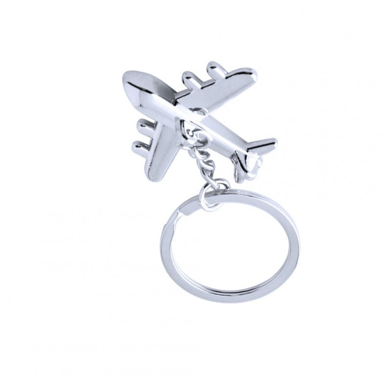 Zinc Alloy Airlines Model Metal Keychain Model Key Chain Aircrafe Silver