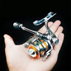 Zinc Alloy Spinning Fishing Reel Left Right Interchangeable Collapsible Handle with two Bearings
