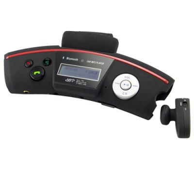 Car Steering Wheel Bluetooth Adapter with Wireless Earpiece