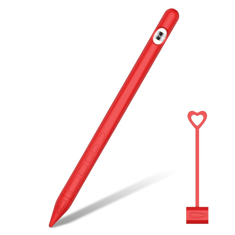 for Apple Pencil 1 Tablet Touch Stylus Pen Protective Cover Portable Soft Silicone Pencil Cap red