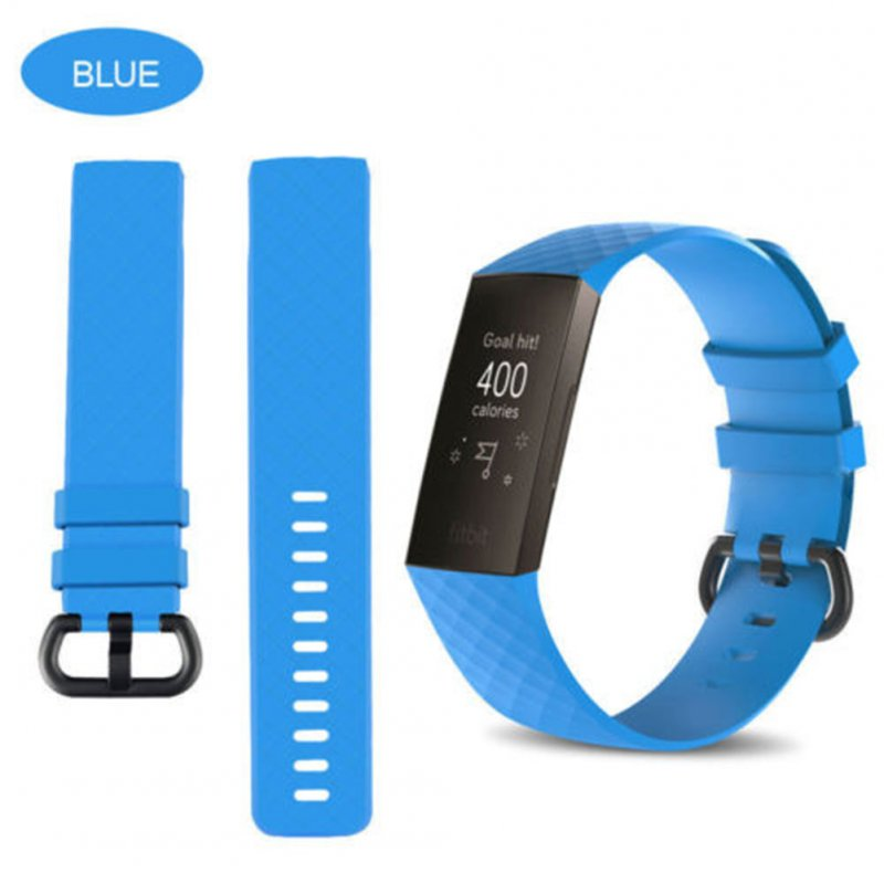 for Fitbit Charge 3 Replacement Band Silicone Strap Sports Wristband sky blue_small