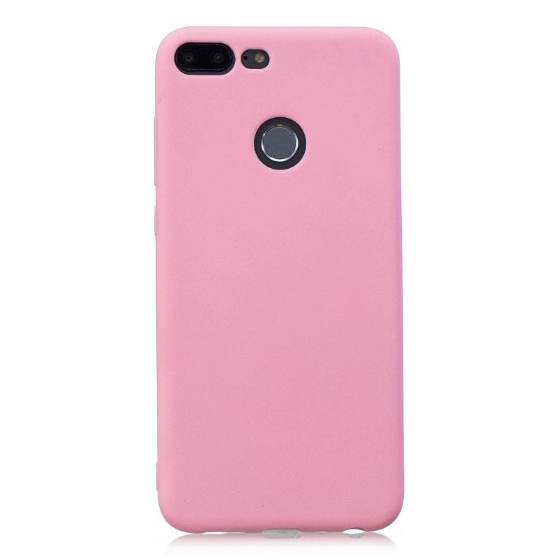 for HUAWEI Honor 9 lite Cute Candy Color Matte TPU Anti-scratch Non-slip Protective Cover Back Case dark pink