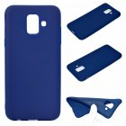 for Samsung A6 2018 Lovely Candy Color Matte TPU Anti-scratch Non-slip Protective Cover Back Case Navy