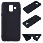 for Samsung A6 2018 Lovely Candy Color Matte TPU Anti-scratch Non-slip Protective Cover Back Case black
