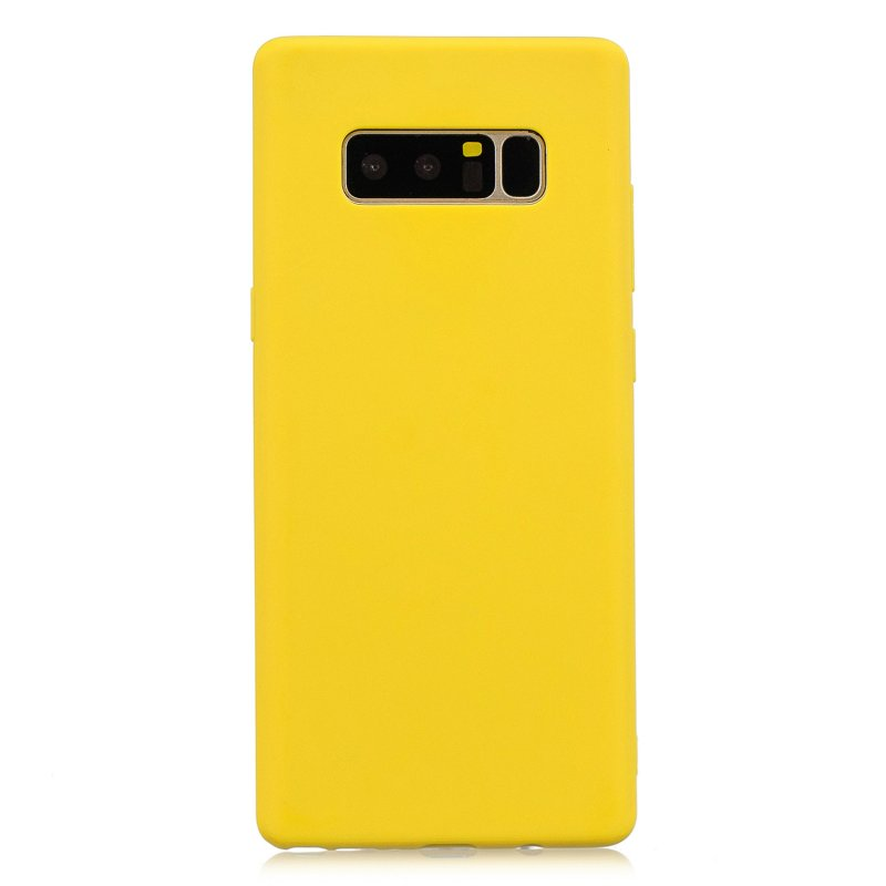 for Samsung NOTE 8 Cute Candy Color Matte TPU Anti-scratch Non-slip Protective Cover Back Case yellow