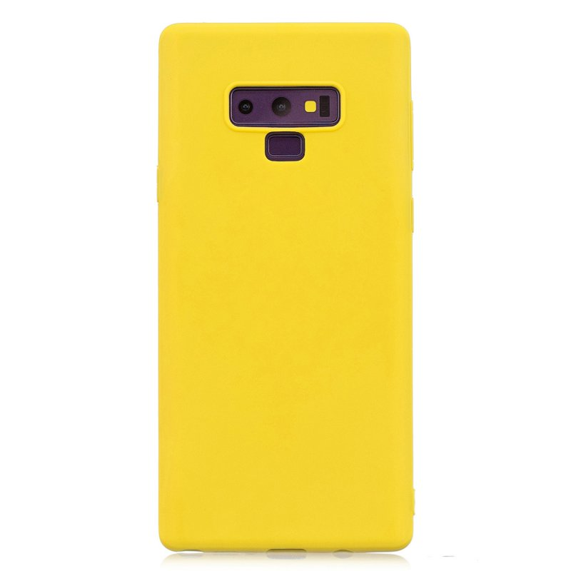 for Samsung NOTE 9 Cute Candy Color Matte TPU Anti-scratch Non-slip Protective Cover Back Case yellow