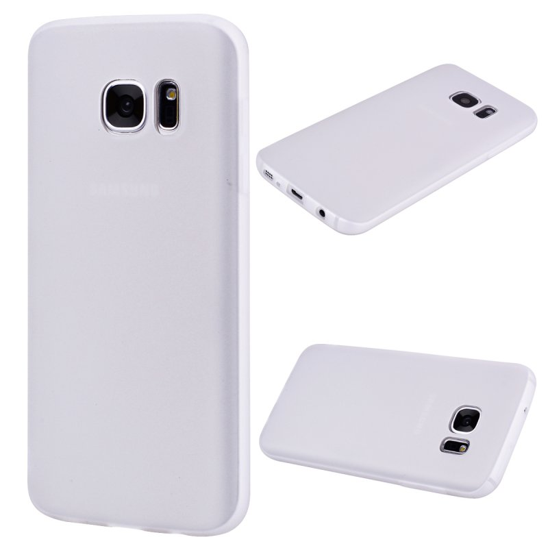 for Samsung S7 edge Cute Candy Color Matte TPU Anti-scratch Non-slip Protective Cover Back Case white