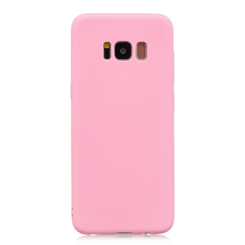 for Samsung S8 plus Lovely Candy Color Matte TPU Anti-scratch Non-slip Protective Cover Back Case dark pink