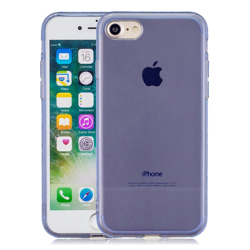 for iPhone 6/6S / 6 Plus/6S Plus / 7/8 / 7 Plus/8 Plus Clear Colorful TPU Back Cover Cellphone Case Shell Royal Blue